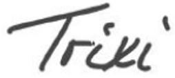 Unterschrift von Trixi Tumert