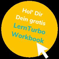 Hier wird auf das Lernturbo Worbook aufmerksam gemacht